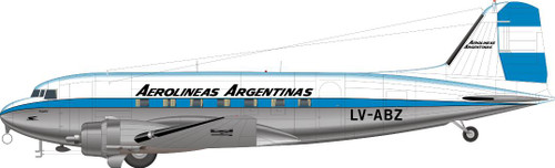 1/144 Scale Decal Aerolineas Argentinas DC-3
