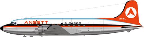 1/144 Scale Decal Ansett DC-4 Orange Livery