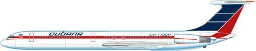 1/144 Scale Decal Cubana IL-62M