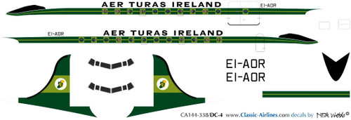 1/144 Scale Decal Aer Turas DC-4