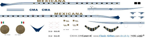 1/144 Scale Decal Mexicana Comet 4C