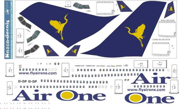 1/144 Scale Decal Air One A330-200 For Revell