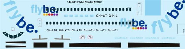 1/144 Scale Decal Flybe Nordic ATR-72