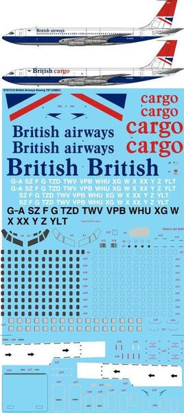 1/72 Scale Decal British Airways 707
