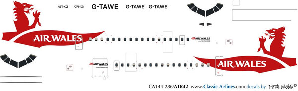 1/144 Scale Decal Air Wales ATR-42