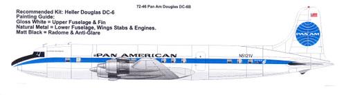 for kit Heller TwoSix 72-50 DC-6  1//72  Decal  Pan American World Airways