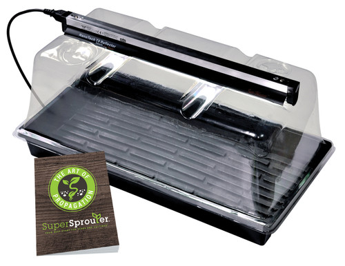 Super Sprouter® Deluxe Propagation Kit with 7 in Dome & T5 Light