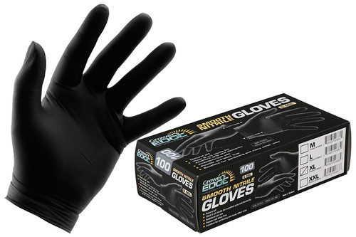 Grower's Edge® Black Nitrile Gloves