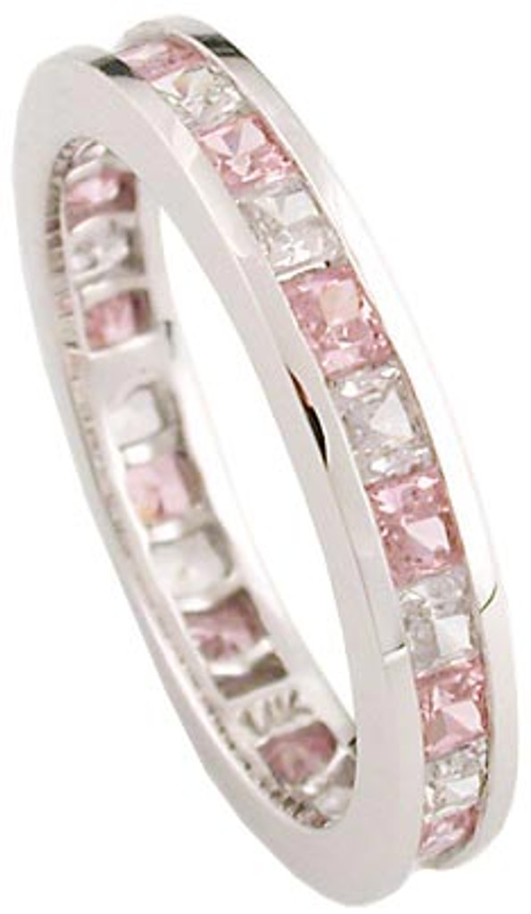 Pink CZ Full Eternity Band