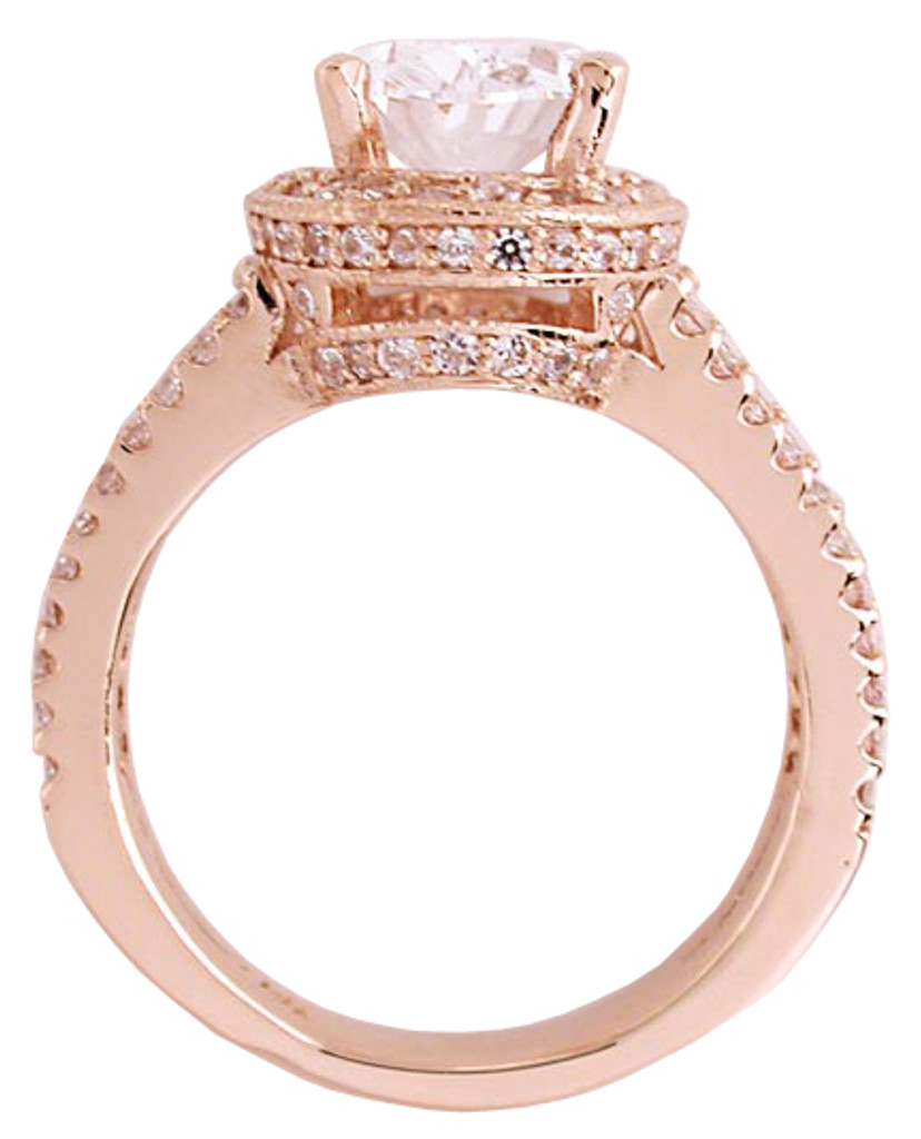 Solid 14 Karat Rose Gold Setting
