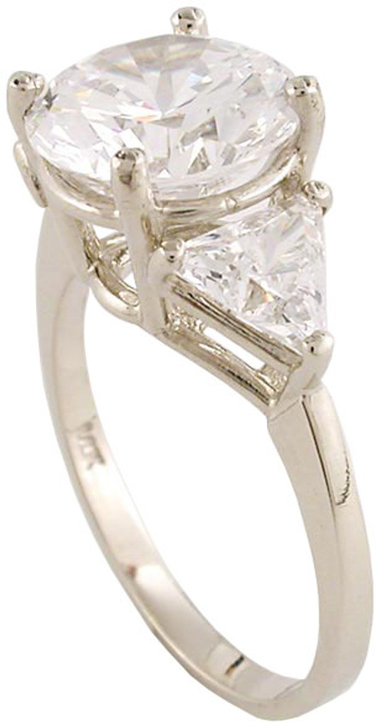 Solid 14 Karat White Gold Setting