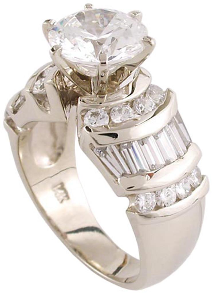 2 Carat CZ Designer Engagement Ring