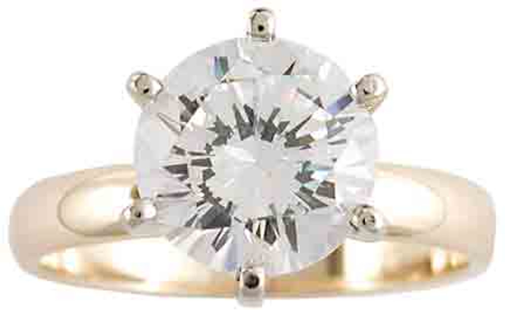 2.00Ct Round Special Cut Cubic Zirconia Solitaire