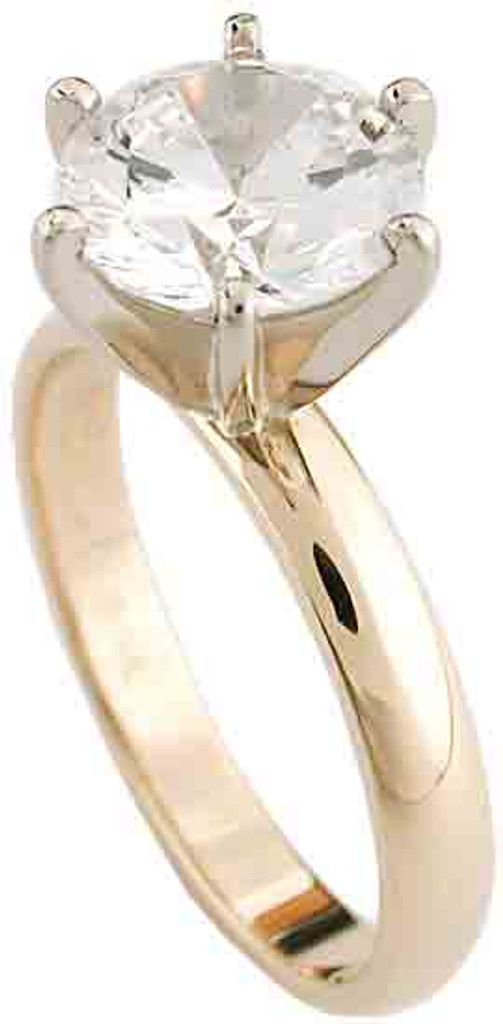 2.00Ct Round Solitaire On A 3MM Band