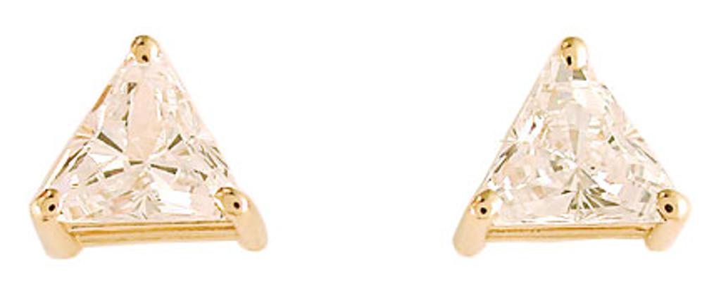 1.00/2.00 TCW 14Kt Gold Cubic Zirconia Stud Earrings