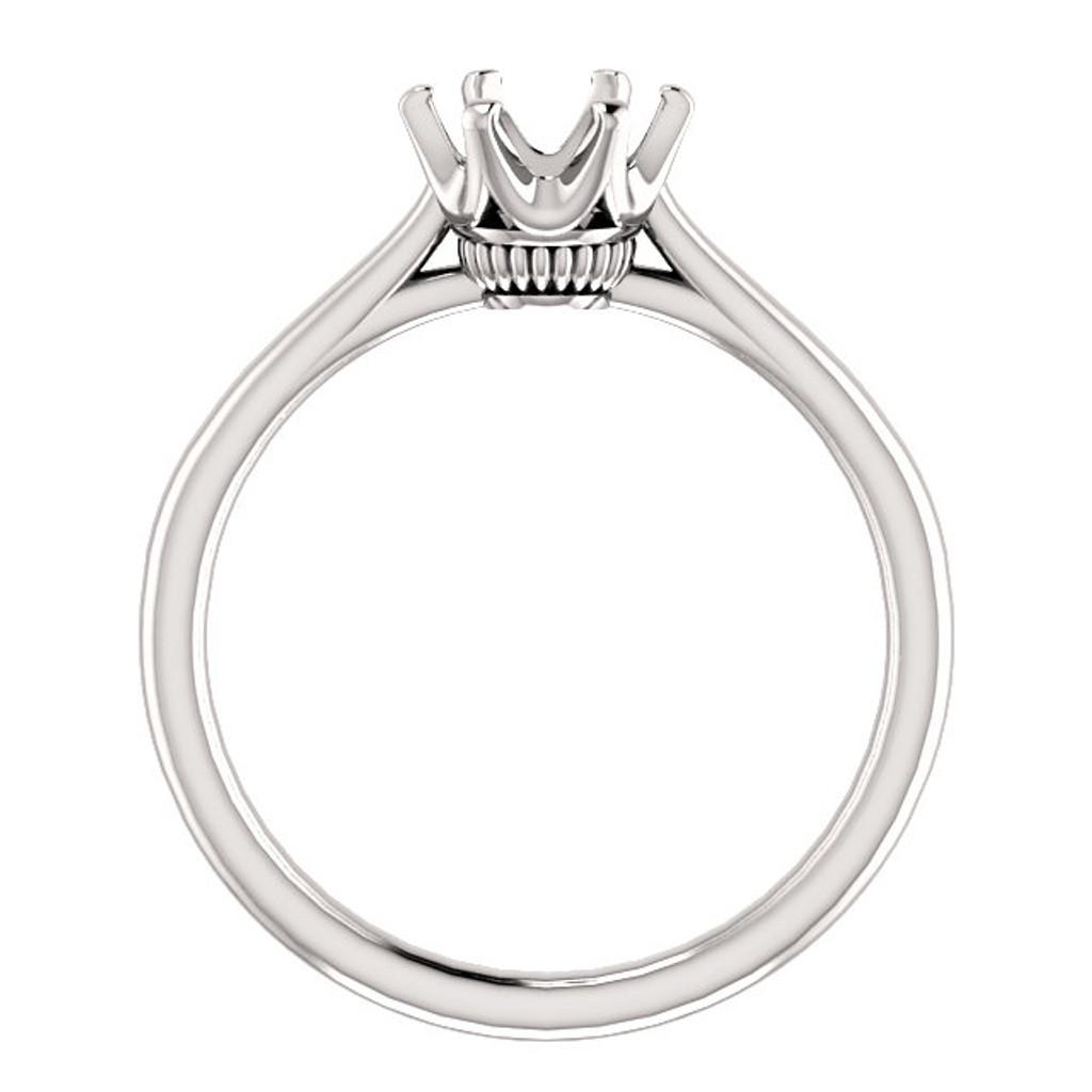 1.00CT Custom Designer Solitaire 14Kt White Gold Crown Setting
