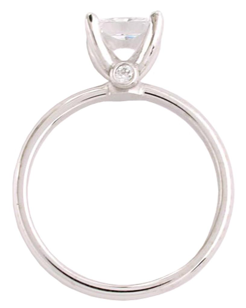Surprise CZ Solitaire Engagement Ring