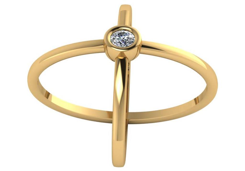14 Karat Gold Cigar Band Ring