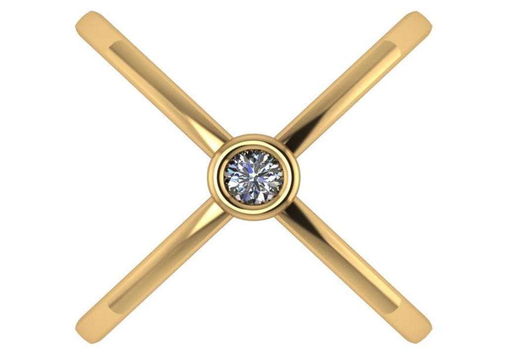 14 Karat Gold Criss Cross Ring