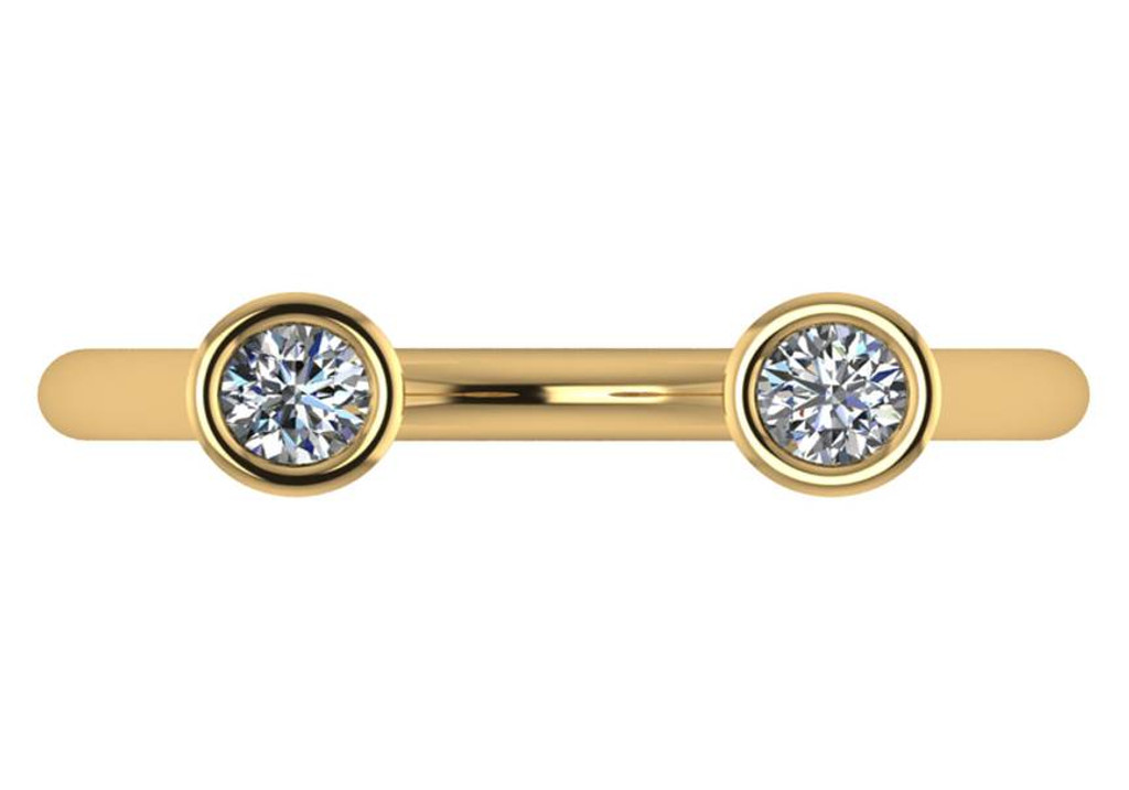 Cubic Zirconia Cigar Band