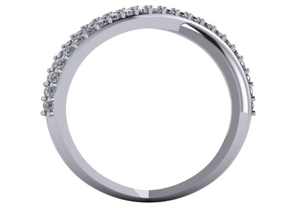 .46 Carat CZ Criss Cross Ring