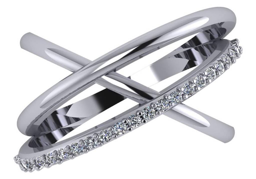 Cubic Zirconia CrissCross Ring