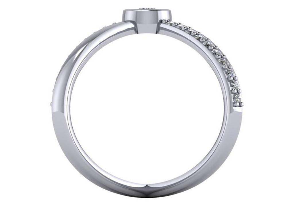 .35 Carat CZ Criss Cross Ring