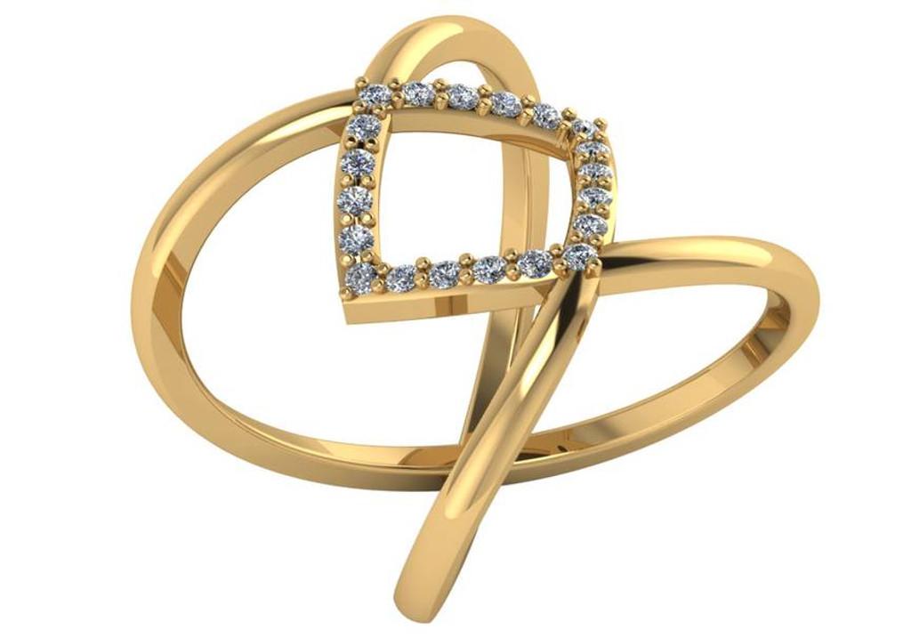 CZ Cigar Band Ring