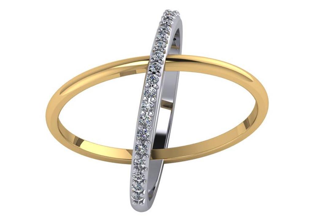 .23 Carat CZ Cigar Band Ring