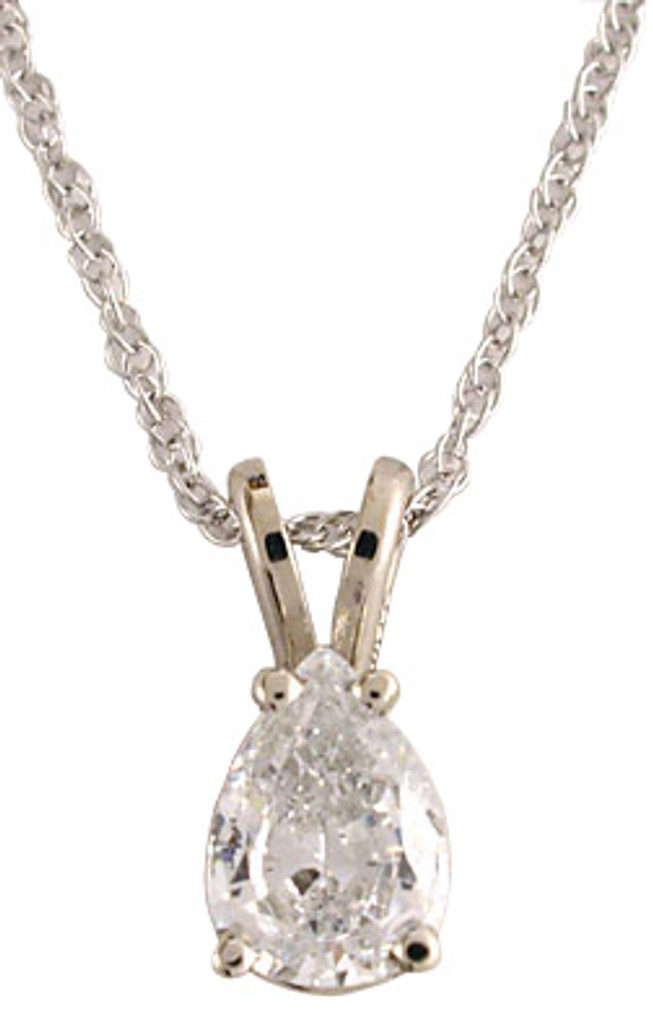 High Quality .75Ct Pear Cubic Zirconia