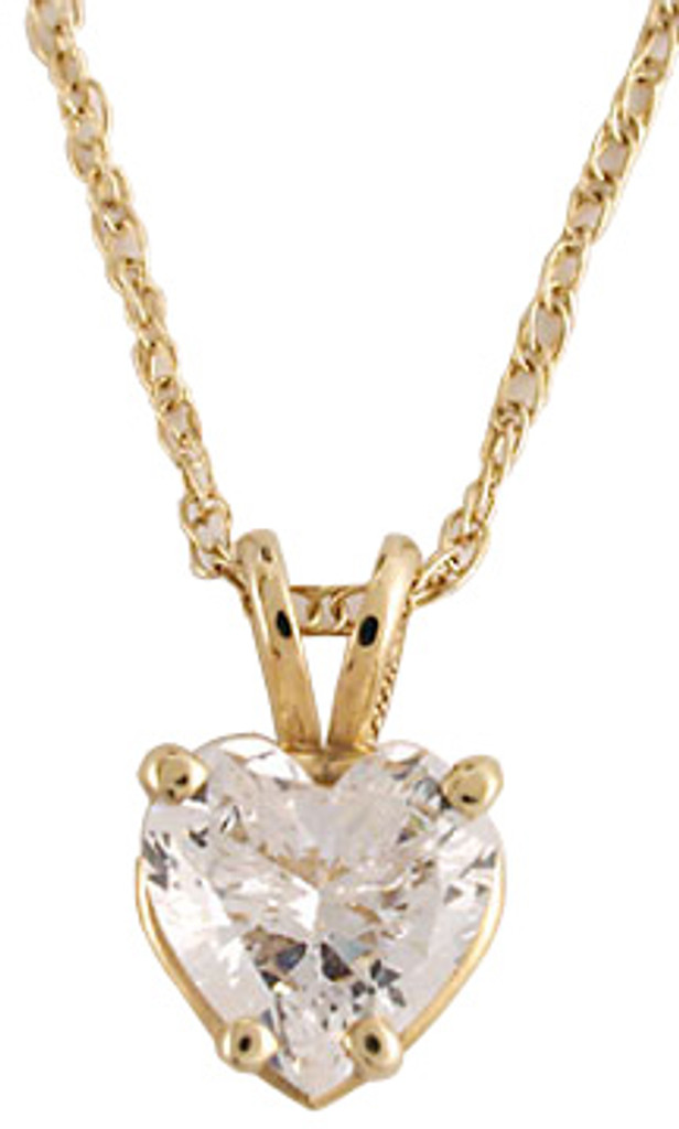 Stunning 1.00Ct Heart Cubic Zirconia Pendant