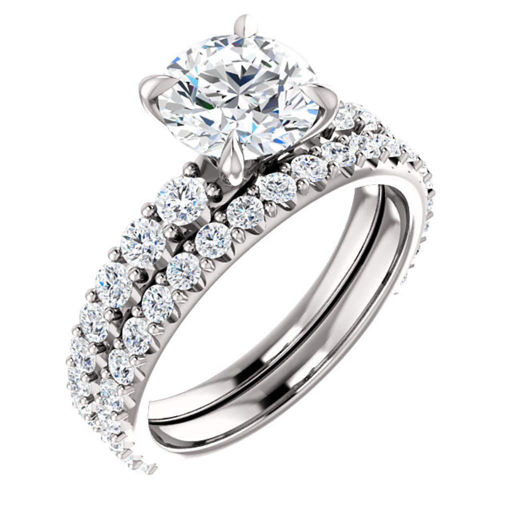 Stunning 1.50 Carat Cubic Zirconia Bridal Set