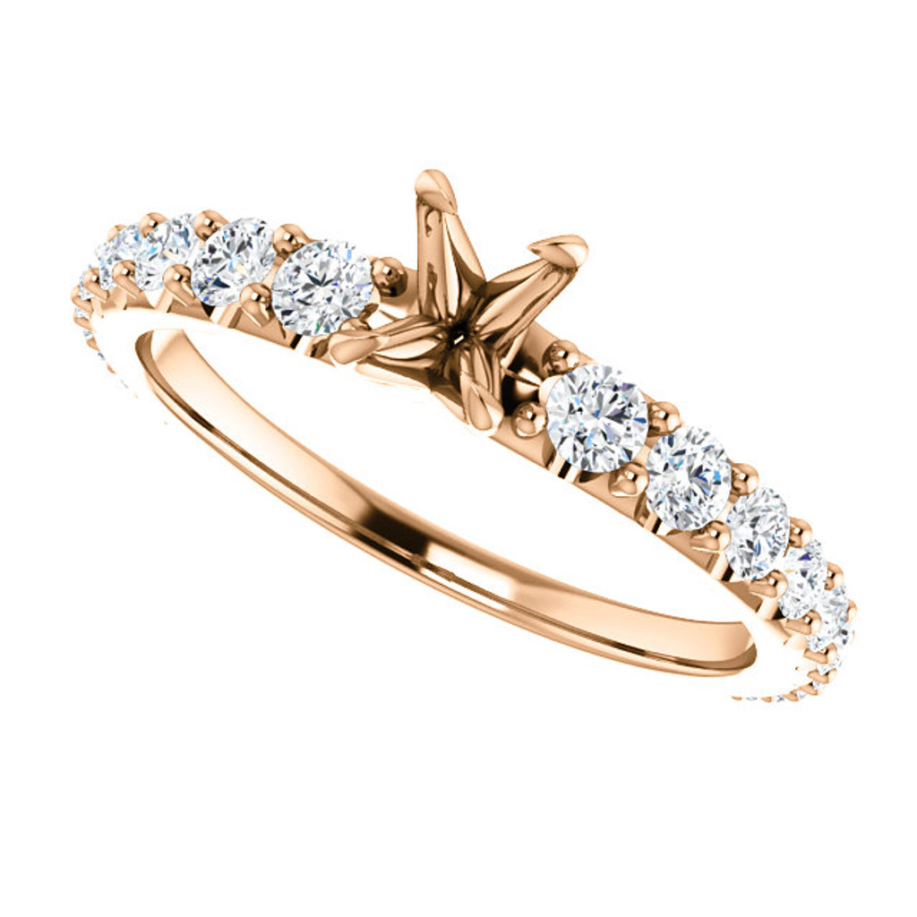 Stunning Cubic Zirconia Engagement Ring in Rose Gold
