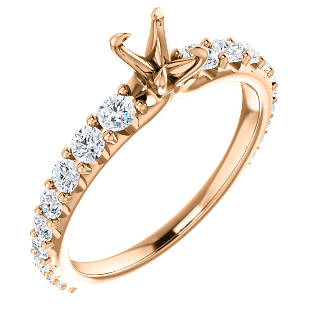 Beautiful CZ Engagement Ring With Your Choice of Center Stone