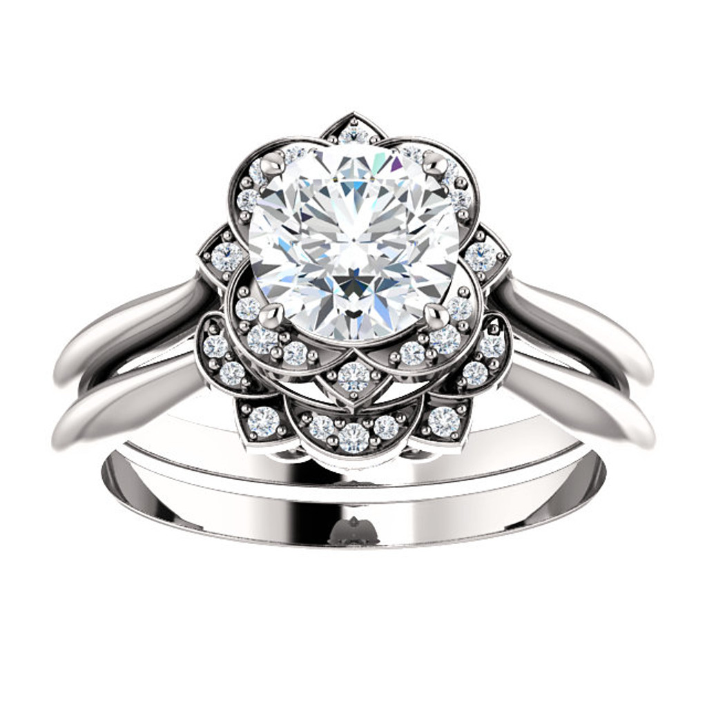 Stunning Cubic Zirconia in Solid 14 Karat White Gold