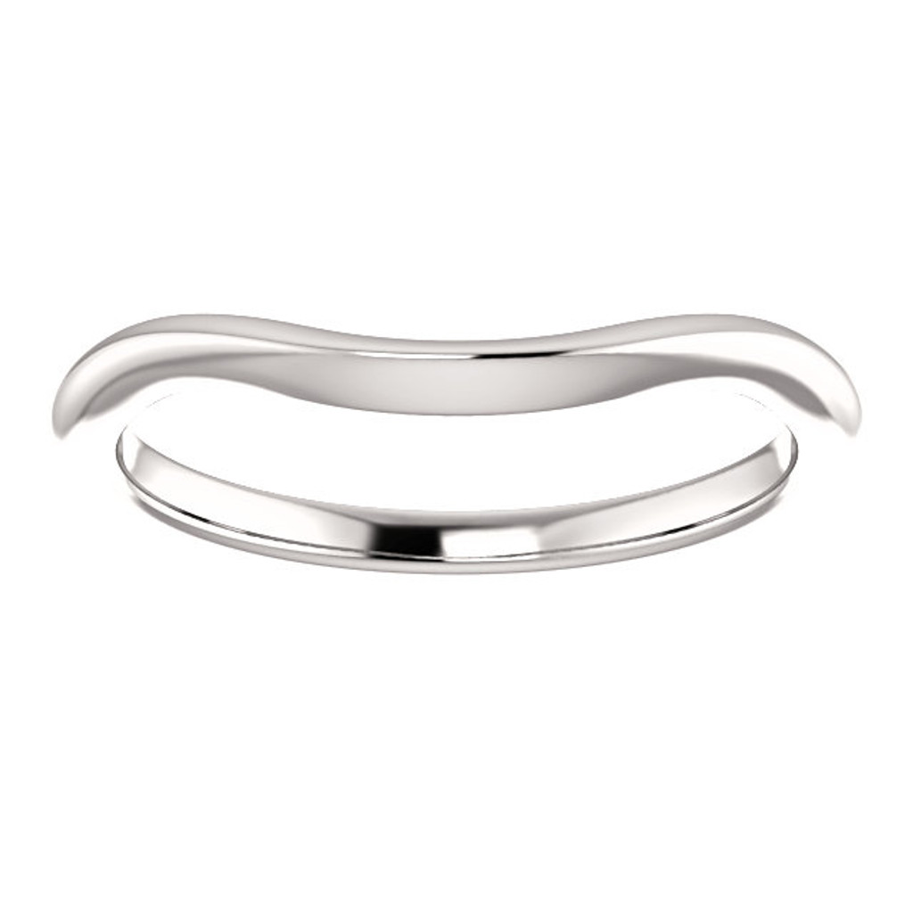 Solid 14 Karat White Gold Matching Band