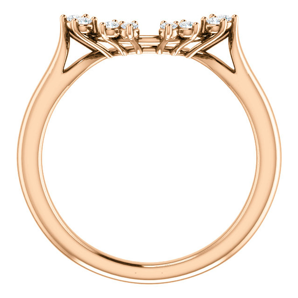 Solid 14 Karat Rose Gold Matching Wedding Band