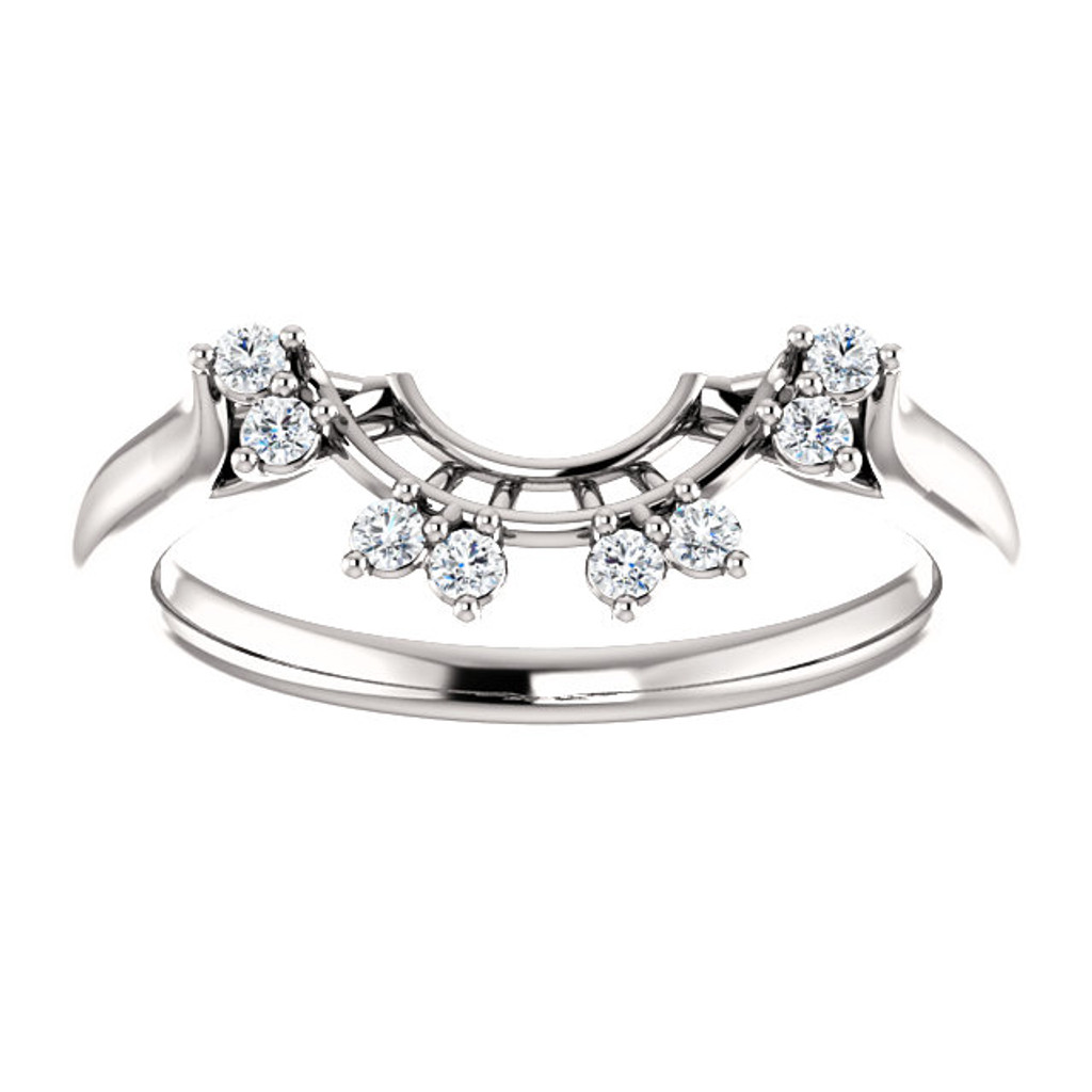 Lovely Curved CZ Band