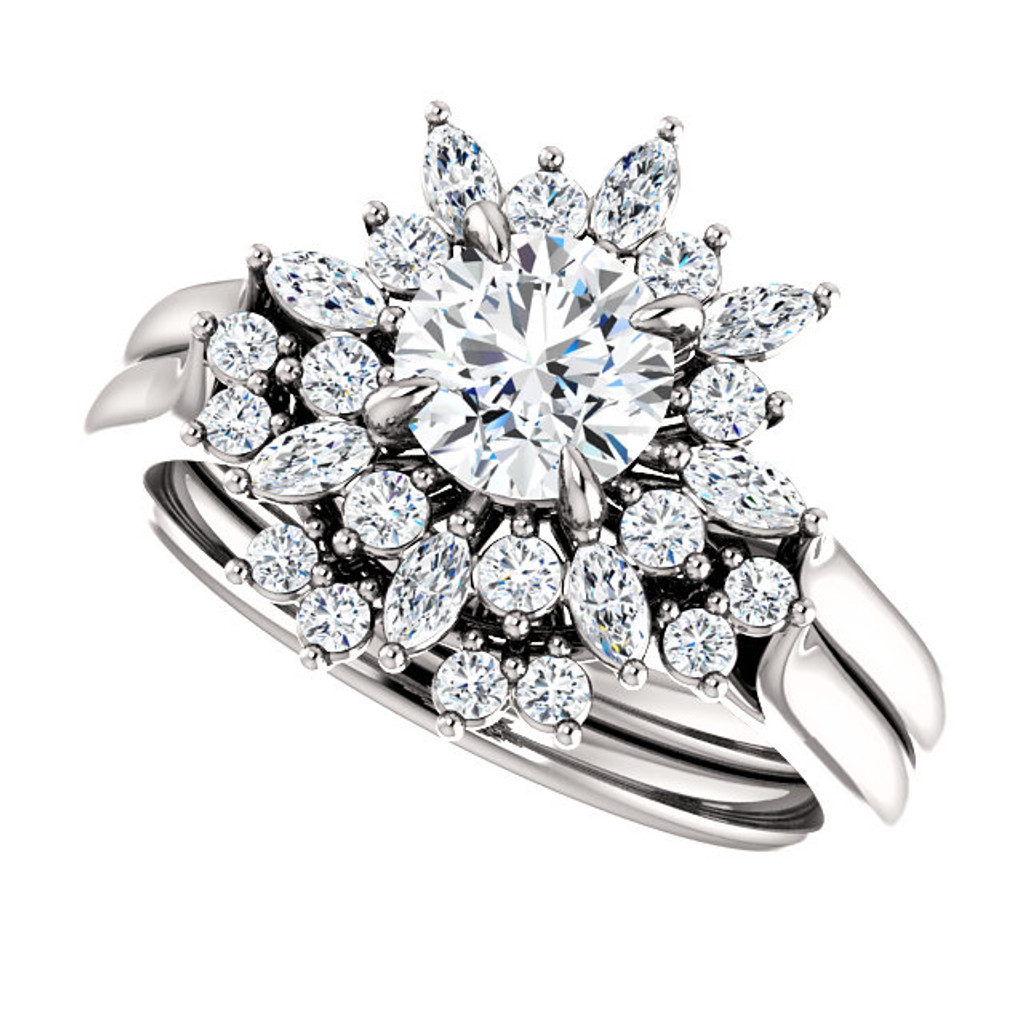 Stunning Man Made Diamond Wedding Set