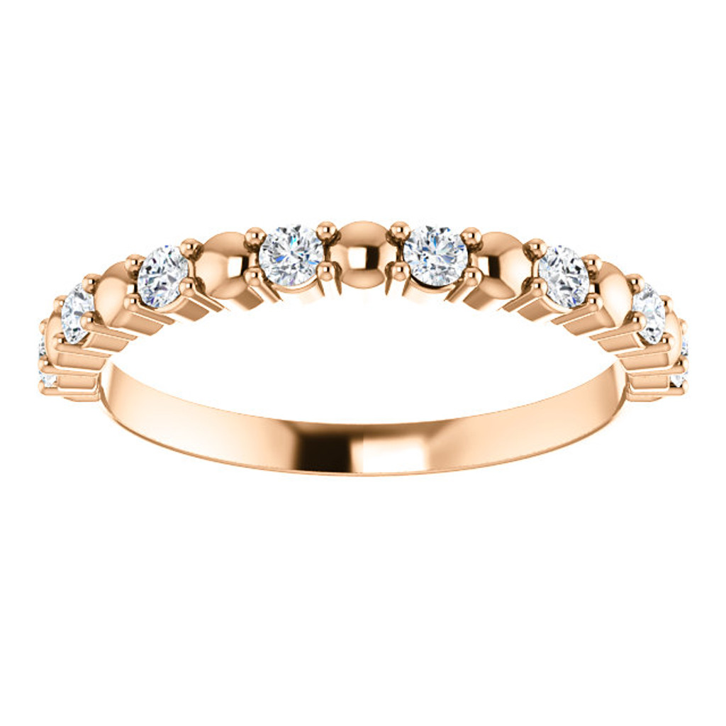 Lovely Cubic Zirconia Mix & Match Half Eternity Band