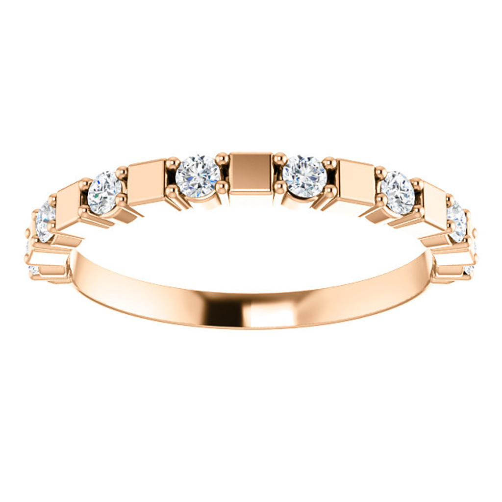 Rose Gold Stackable Half Eternity Band