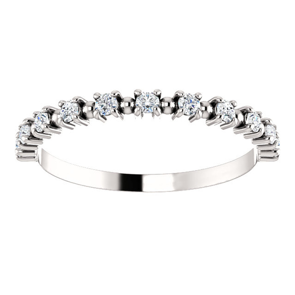 Mix & Match Stackable CZ Half Eternity Band