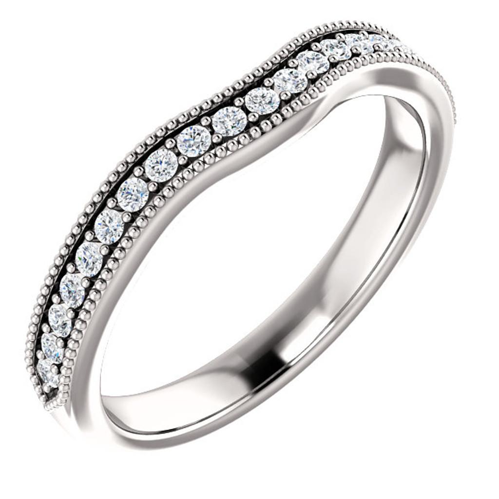 Gillian Cubic Zirconia Wedding Set in Two Tone Solid 14 Karat White ... 942ef4ddb