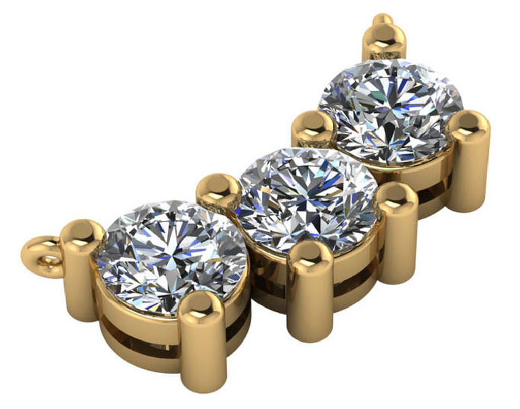 Highest Quality Cubic Zirconias in Solid 14K Gold