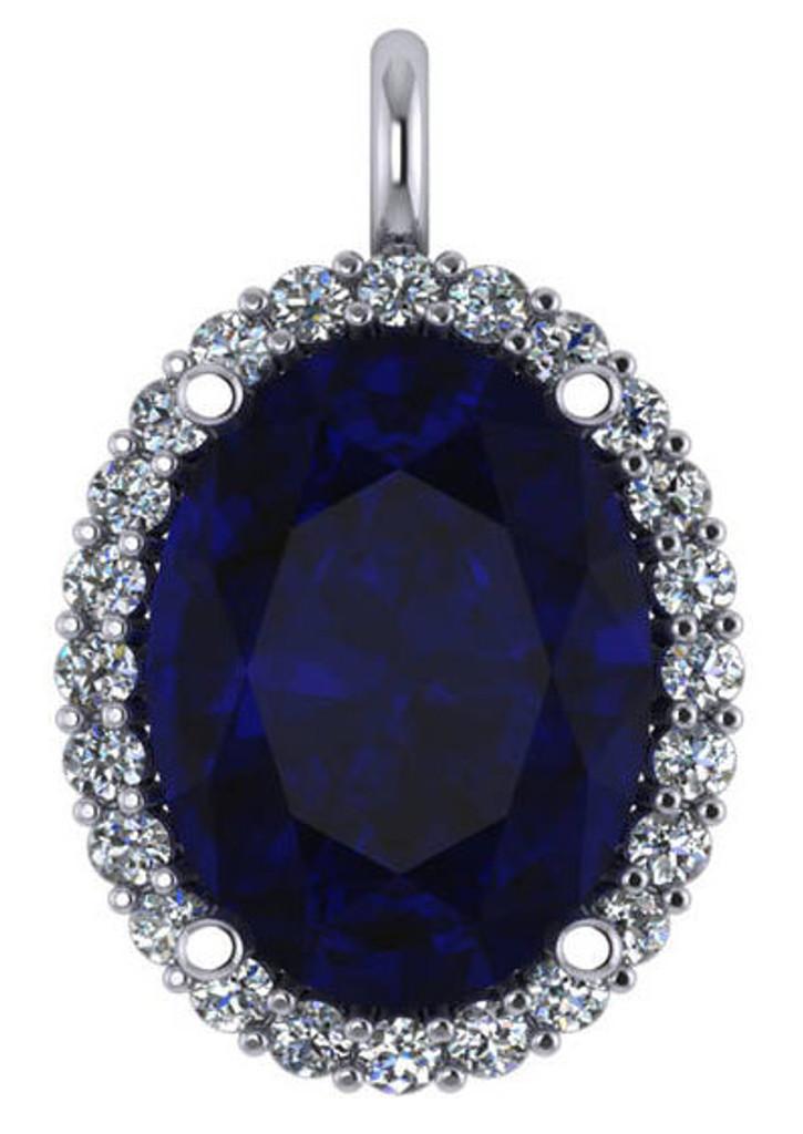 Stunning Sapphire Blue 8Ct Oval Cubic Zirconia
