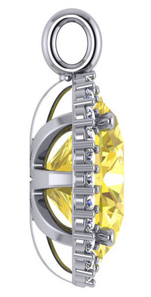 Canary Set in 14Kt White Gold