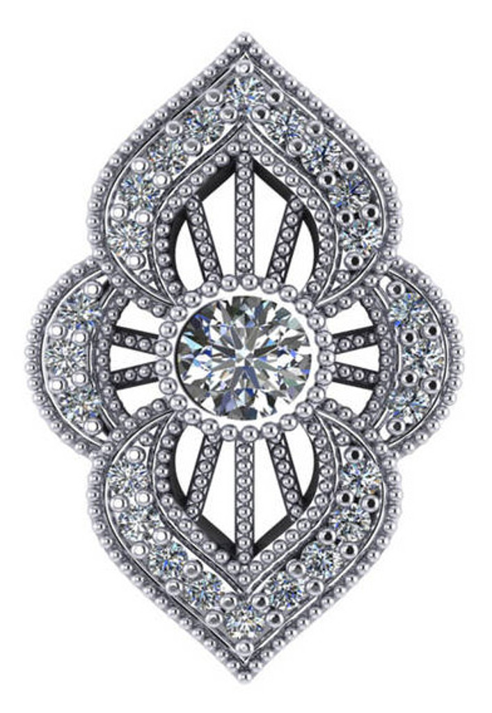 Highest Quality Cubic Zirconia in Solid 14 Karat White Gold