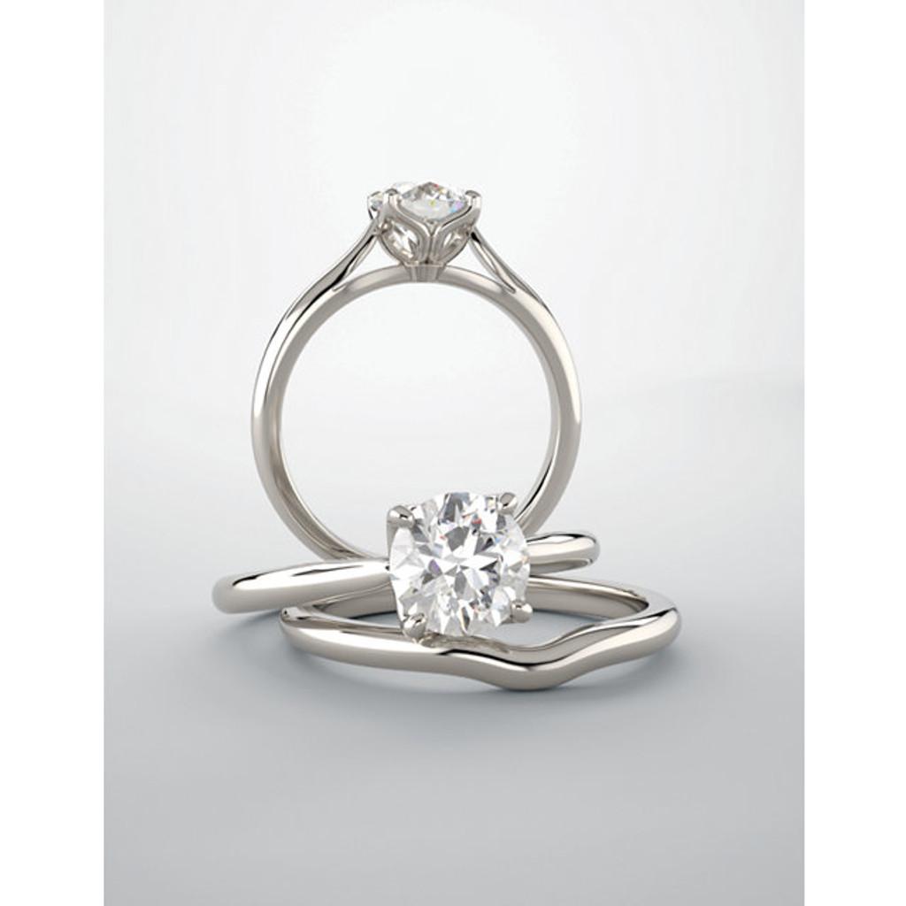 Finest Quality Cubic Zirconia Solitaire Wedding Set