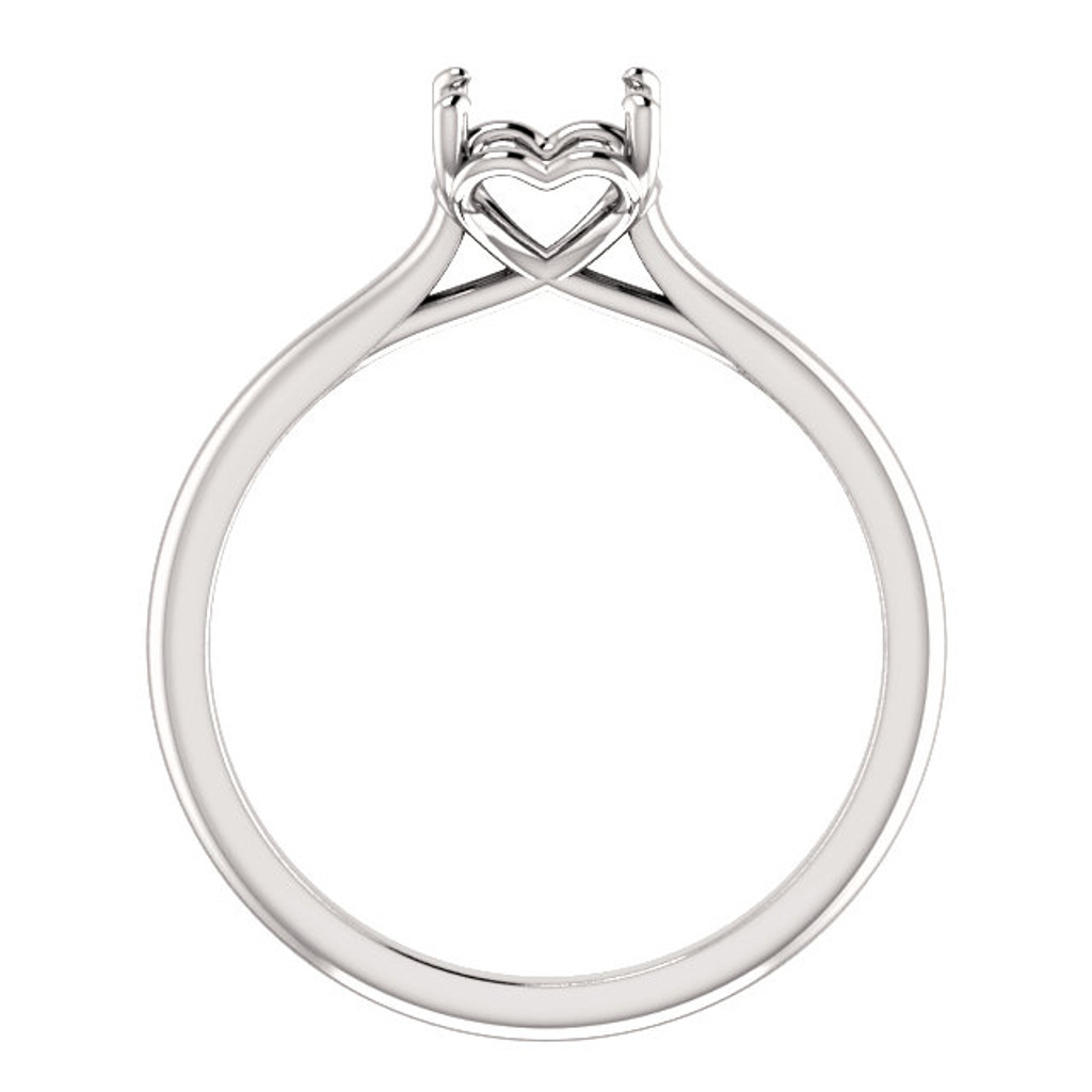 Bisa Hidden Heart Solitaire Engagement Ring Side View