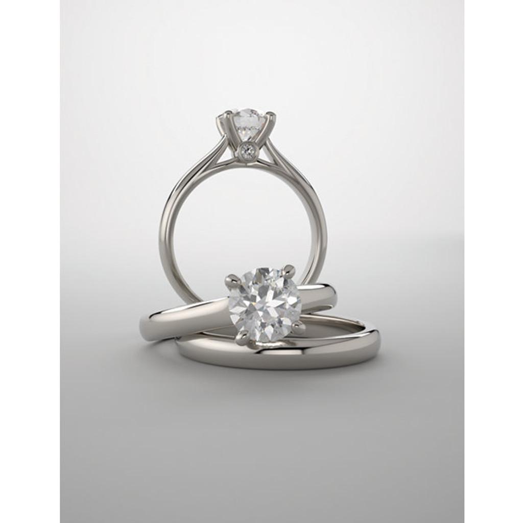 Beautiful Hidden Stone Solitaire Wedding Set